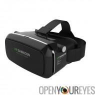 Lunettes 3D VR - pour les Smartphones de 3,5 à 6,0 pouces, rembourrée, réglable profondeur focale