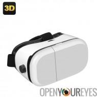 Casque V-Max réalité virtuelle en 3D - pour 4 à 6 pouces Smartphones, réglable profondeur focale, Distance pupillaire + bandeau