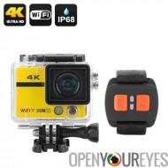 Caméra d'Action HD ultra 4K « Clarion » - 20MP, Sony CMOS, objectif de 170 degrés, poignet télécommande, Wi-Fi, boucle d'enregi