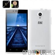 THL T6C 5.1 Android Smartphone - MTK6580 Quad Core CPU, 1GB RAM, écran 5 pouces IPS, Dual SIM, avant + arrière, caméra (blanc)