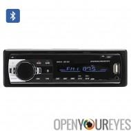 Un DIN Bluetooth autoradio - 4 x 60W haut-parleur prise en charge, avant entrée Aux, USB + Slot pour carte SD, MP3, WAV, WMA, T