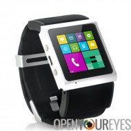 Android Smart Watch « V Strike » - 1,54 pouces écran, CPU Dual Core de 1GHz, Bluetooth 4.0, GPS, Wi-Fi (noir)
