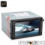 2 DIN 6,2 pouces tactile écran voiture lecteur DVD - SiRFatlasV(A6) S3661 GPS, affichage APP, Bluetooth, ajustement universel,