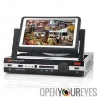 8 canaux DVR avec 7 pouces écran - Compression H.264, D1 résolution, Port HDMI, Support téléphone portable Regarde un