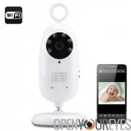Une connexion Wi-Fi caméra babyphone - 1/3 de pouce CMOS, 720p, H.264, Vision nocturne, infrarouge, Micro carte SD Support