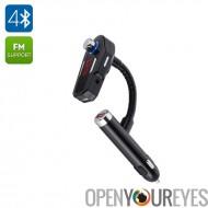 Transmetteur FM Bluetooth pour voiture - Bluetooth 4.0, HSP, HFP A2DP, AVRCP, 2 Ports USB, entrée Aux