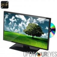 21,5 lecteur DVD grand écran pouces Full HD - région FreeDVD Player, Tuner TV, HDMI, USB, carte SD, enceintes de jumeaux