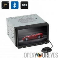 7 pouces 2 DIN voiture Head Unit - GPS, Win CE, écran tactile, écran inclinable de 90 degrés, Bluetooth, Interface 3D