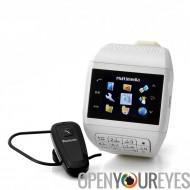 Montre téléphone mobile avec clavier « Quartz » - Dual SIM, écran tactile, Bluetooth Headset, carte micro SD de 4 Go
