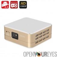 Puce DLP Mini projecteur - Support du 1080p, 4.4 Android, Wi-Fi, USB, HDMI, 100 Lumens, résolution de 854 x 480, haut-parleur i