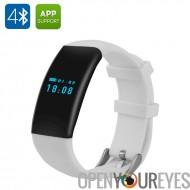DFit Smart sport Bracelet - IP66 Bluetooth 4.0, Sports Tracking, moniteur de dormir, applications pour iOS + Android (blanc)