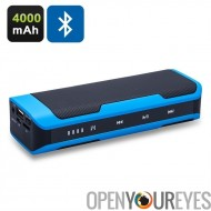 Haut-parleur Bluetooth portatif - 4000mAh Power Bank, FM Radio, Support mains-libres, Micro SD Card Port, commande tactile