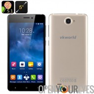 VKworld 700 x Android Smartphone 5.1 - écran de 5 pouces IPS, Corning Glass, Quad Core CPU, Smart suite, double SIM (or)