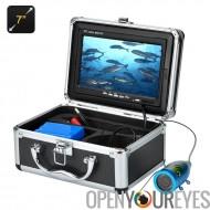 Sous-marine pêche caméra - 1/3 de pouce CMOS, écran LCD de 7 pouces, protection sacoche, 12 lumières LED, 15 mètres de profonde