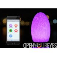 Batterie de 4400mAh télécommandé LED lampe - change de couleur, sans fil, IP54, Bluetooth + commande tactile
