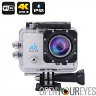4K caméra Wi-Fi d'Action Sports étanche - écran LCD de 2 pouces, 4K Ultra HD, 16MP, sortie HDMI, Grand Angle de 170 degrés (arg