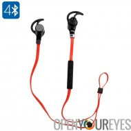 Sports écouteurs stéréo sans fil - Bluetooth 4.0, anti-bruit, batterie 80mAh, mains libres, résistant à la sueur, projections
