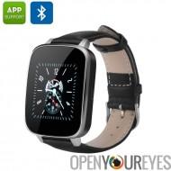 Montre de Smart Bluetooth 4.0 - iOS + Android App, répondeur, Notification, capteur de fréquence cardiaque, podomètre (noir)