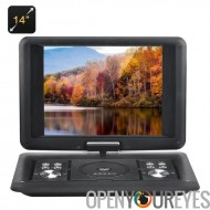 Lecteur de DVD Portable 14 pouces - copier Function, 270 degrés rotation écran, jeux, la fonction de copie