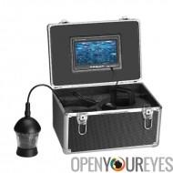 360 degrés ensemble caméra sous-marin pour pêche vue - écran de 7 pouces, 12 LEDs IR, 20M câble, pare-soleil, étui de transport