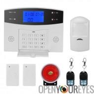 Danmini système d'alarme de sécurité - GSM, les Notifications par SMS, 8 Zones filaires de défense + 99 Zones de défense sans f