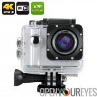 ELE Explorer Pro 4K sport caméra - commande vocale, caisson étanche, objectif grand Angle 5 X Zoom 170 degrés (argent)