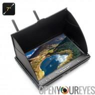 7 pouces moniteur de FPV - IPS de 1024 x 600 écran, format 16:9, 600cd/m2 luminosité, 800: 1 de contraste, 32 voies