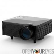 Mini projecteur - 60 Lumens, 300: 1 Aspect Ratio, 1,67 millions de couleurs affichables, 5 bornes d'entrée: AV / VGA / USB / SD