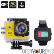 Q3 Full HD 1080p Action Camera - 170 degrés vue, 12MP, 2 pouces écran, télécommande, connexion Wi-Fi, gratuit iOS + Android App