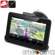 7 pouces Android 4.4 GPS Navigation - 800 x 480 écran tactile, transmission FM, Support de carte Micro SD 32GB