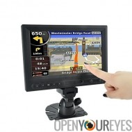 8 pouces écran tactile ACL (AV, VGA, HDMI, Kit voiture)
