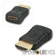 Adaptateur Mini HDMI (type C) Femme à HDMI mâle