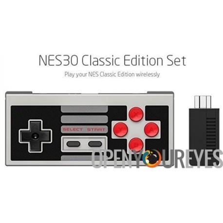 8Bitdo NES30 Classic Edition Set avec Récepteur Rétro Bluetooth - Nintendo NES Mini Classic