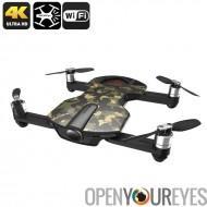 Wingsland S6 Premium Drone - caméra de conception pliable, 4 Modes de vol, de 4K, maison touche retour, Wi-Fi, FPV (Camouflage)
