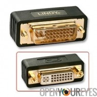 Adapter DVI-I Dual Link mâle / femelle