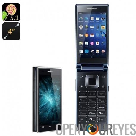 VKWorld T2 double affichage Smartphone - Quad-Core CPU, OS Android, Google jeu, double IMEI, réveil intelligent, appareil photo