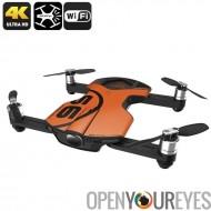 Wingsland S6 Premium Drone - caméra 4K, Design pliable, Wi-Fi, FPV, touche Retour maison, 4 Modes de vol (Orange)