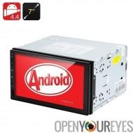 2 DIN 4.4 Android Media Player - 7 pouces tactile écran, GPS, 3G soutien, mains libres