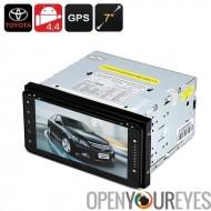 2 DIN 7 pouces Toyota voiture lecteur DVD - système d'exploitation Android, 800 x 480, processeur Quad-Core, 1Go de RAM, GPS, W
