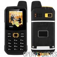 Téléphone extérieur robuste - 3000mAh, Mode Power Bank, double-IMEI, IP67, talkie-walkie, caméra (Orange)