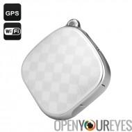 Tracker GPS + localisateur - lb, Wi-Fi, GSM, Tracking, Geo-barrière, appel d'urgence, Dual Audio (blanc) en temps réel