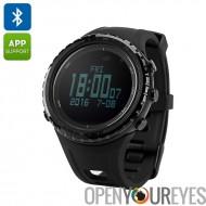 Sunroad FR803 Smart Watch - Bluetooth, 5 ATM étanche, rétro-éclairage LED numérique, capteurs de suisses, altimètre, baromètre,