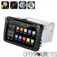 5.1 Android lecteur DVD de voiture - GPS, Quad Core CPU, écran tactile de 8 pouces, CAN-BUS, VW + voitures Skoda