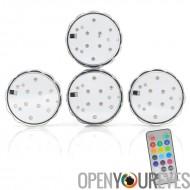 Cercle des LEDs - étanche 4, télécommandé, lumières de LED changeants de couleur