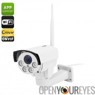 B87W IP caméra extérieure - 1/2, 8 pouces SONY CMOS, PTZ, ONVIF 2.0, IP66, Wi-Fi, Android + iOS Support, 50 M de Vision nocturn