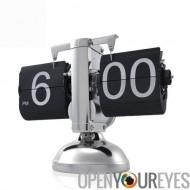 Exploité de rétro Flip Down horloge - engrenage interne