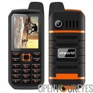 Précommander VK monde Pierre V3 Plus téléphone portable - quadri-bande GSM, batterie de 4000mAh, IP54, appareil photo, de carte