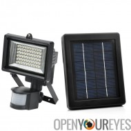 Solar Powered LED Flood Light - détection de mouvement, résistant aux intempéries
