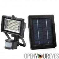 Solar Powered LED Flood Light - détection de mouvement, résistant aux intempéries
