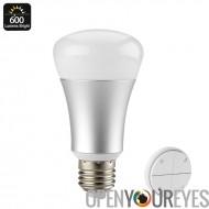 600 lumen LED Dim Light - 600 Lumen, 8 watts, télécommande, coût efficace, environnement favorable, E27 raccord, 25000 heures